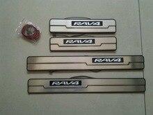 illuminated LED Door Sill Scuff Plate Threshold Kick Step Plate Case for Toyota 2013-2015 Rav4 Rav 4 accessoires