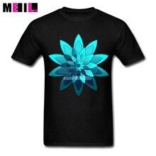 Plus Size MANDALA DESIGN Classic Mans T-shirt Flower Art Short Sleeve Thanksgiving Day Custom Made T Shirts