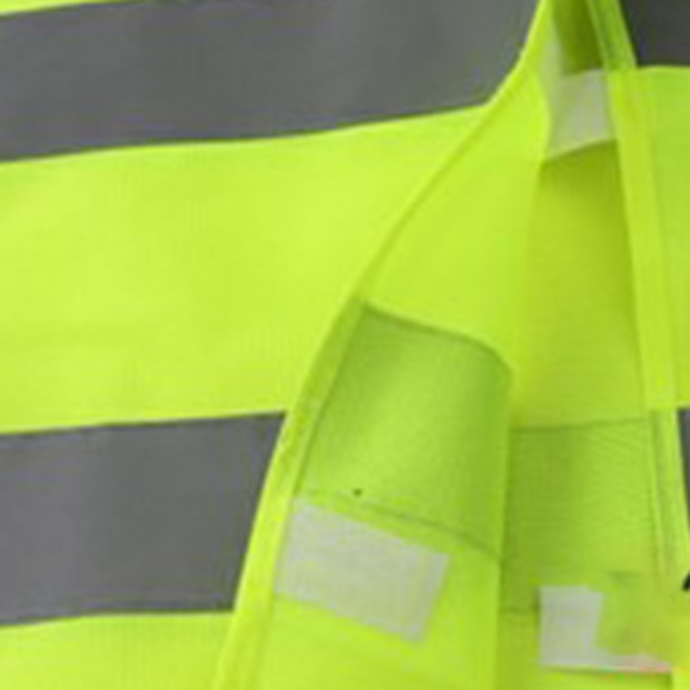Image 2 - Yellow Reflective High Visibility Safety Vest Men & Women Work Cycling Runner Surveyor Volunteer Crossing Guard Wear-in High Visibility Jackets from Automobiles & Motorcycles