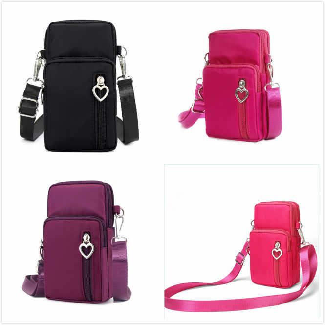 2019 جديد 3 ألوان أزياء المرأة الرياضية صندوق مربع البسيطة الهاتف المحمول الحقيبة Crossbody حقائب كتف