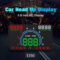 1 Set E350 5.8 inch Screen Car HUD Head Up Display Engine Fault Fuel Alarm Speedometer High Quality