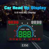 Neue 1 satz E350 5,8 zoll Bildschirm HUD Auto Auto Head Up Display Motor Fehler Kraftstoff Alarm Tacho Hohe Qualität