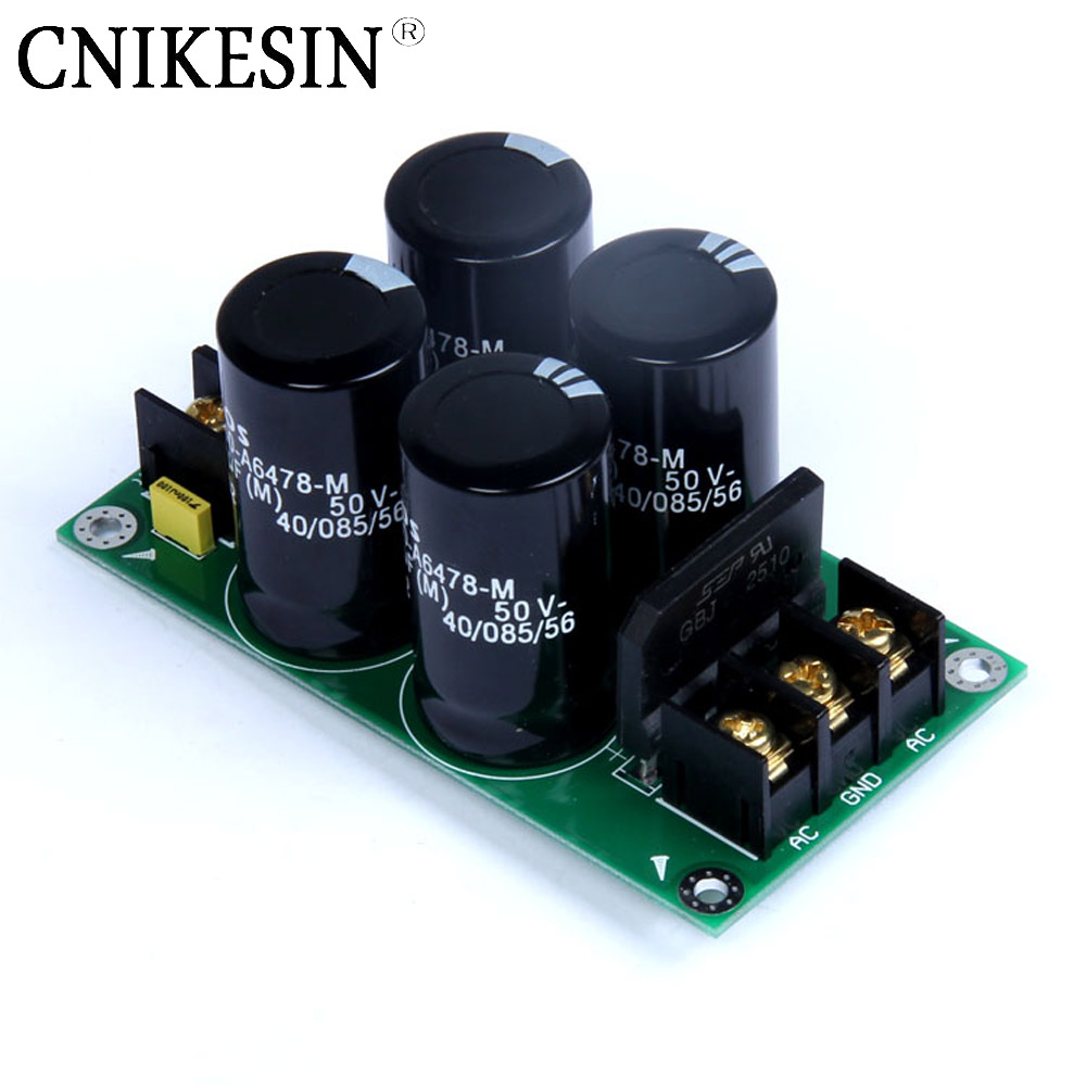 CNIKESIN 50V 4700uF High power amplifier, single bridge rectifier filter power board ( 4700uf50V for EPCOS ) AC direct
