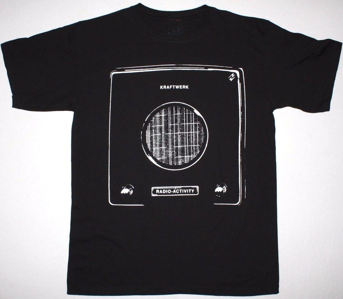 KRAFTWERK RADIO ACTIVITY MENS BLACK T-SHIRT ELECTRONIC SYNTH POP NEU! S-3XL 2018 Newest Letter Print Top Tee T Shirt