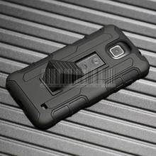 Rugged Hybrid Armor Impact Hard Case For Galaxy Mega 2 G750
