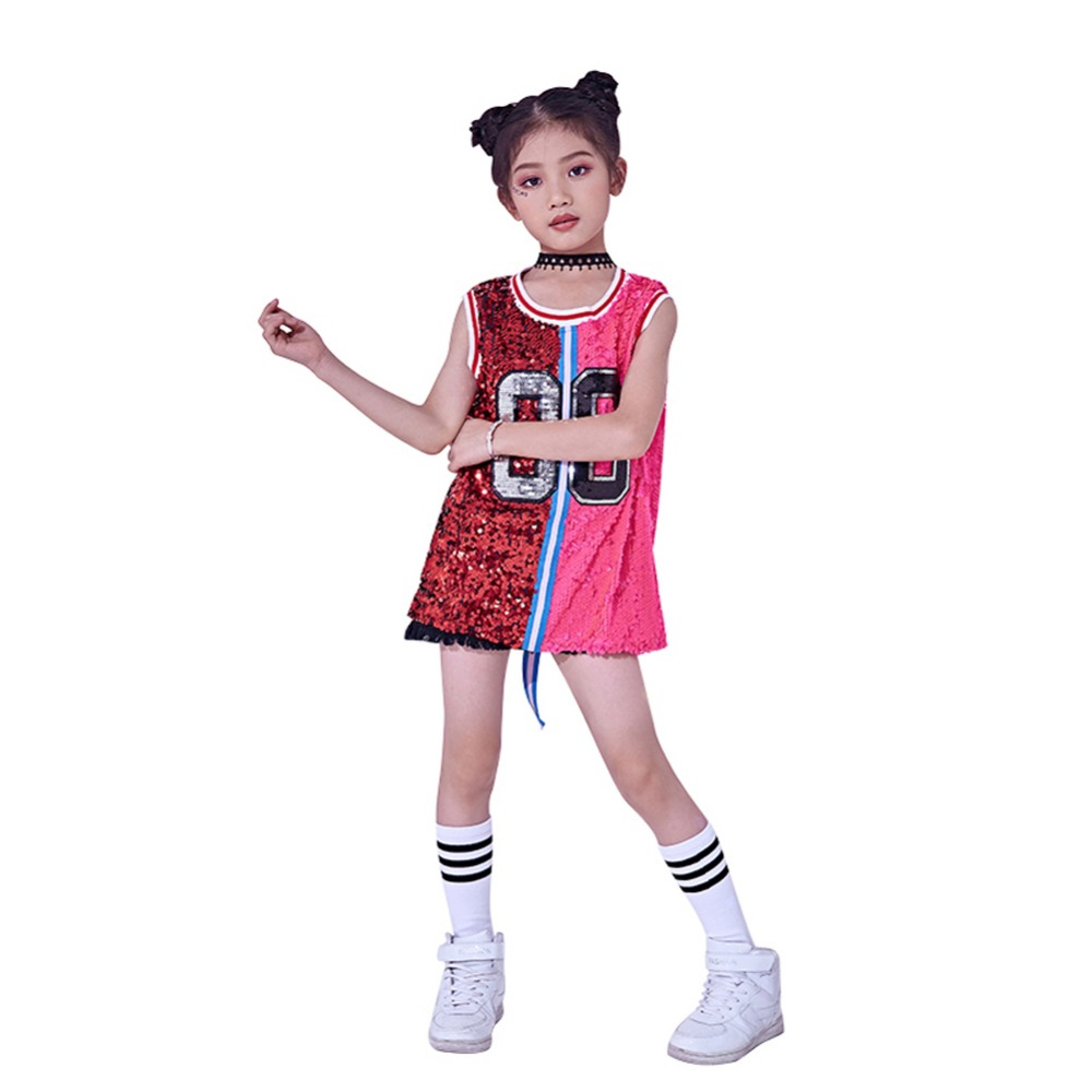 974f5cfe31e9 Kids Girls Sequins Costume Hip Hop Jazz Dancewear Sparkle Sleeveless Tank Top  Dress-in Dresses from Mother & Kids on Aliexpress.com | Alibaba Group