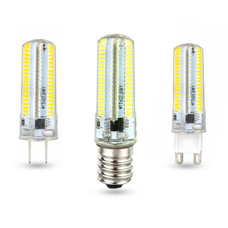 5X Led Light G9 G4 Led Bulb E14 Dimmable Lamps AC 220V Spotlight Bulbs 3014 SMD 24 -120 Leds Sillcone Body
