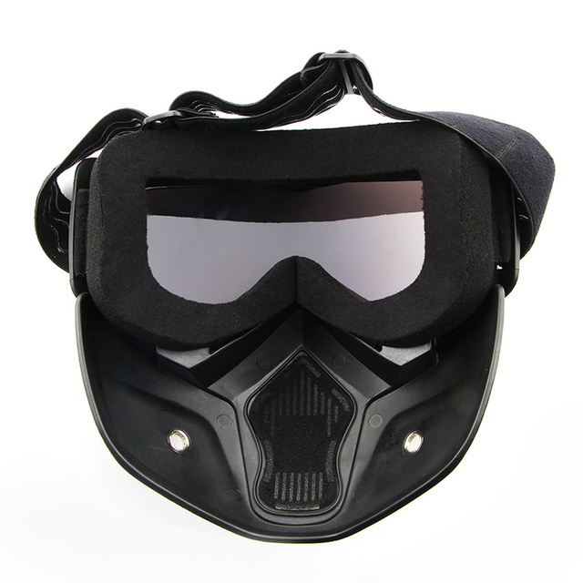 Dust-proof Men Women Cycling Bike Full Face Mask Windproof Winter MTB Goggles Bicycle Snowboard Ski Masks with Anti-UV Glasses 5