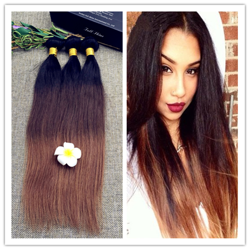 Full Shine 3 Bundles Of Brazilian Human Hair Sew In Weave Straight