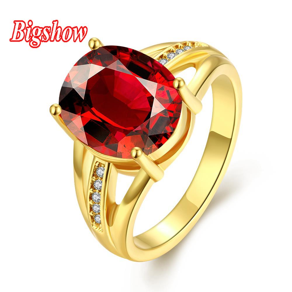 24k yellow goldrose goldplatinum plated jewelry promise rings 4.0ct rubysapphire zircon stone crystals R284-A-8