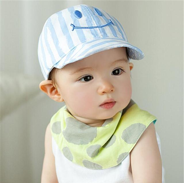 1 Piece Cute Autumn Newborn Baby Hat Girls Boys Smile Striped