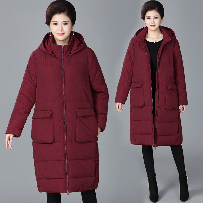 High Quality Warm Winter Jacket Women Coat Long   Parkas   Hooded Plus Size Jacket Coat Casual Outerwear Ladies Winter Coat 4XL Q482