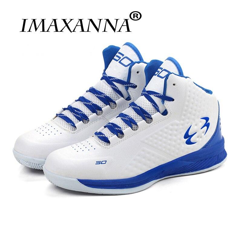 IMAXANNA femmes basket-ball baskets hautes garçons Sport bleu/noir chaussures de Sport hommes basket-ball nouvelles chaussures de basket-ball Cool pour hommes