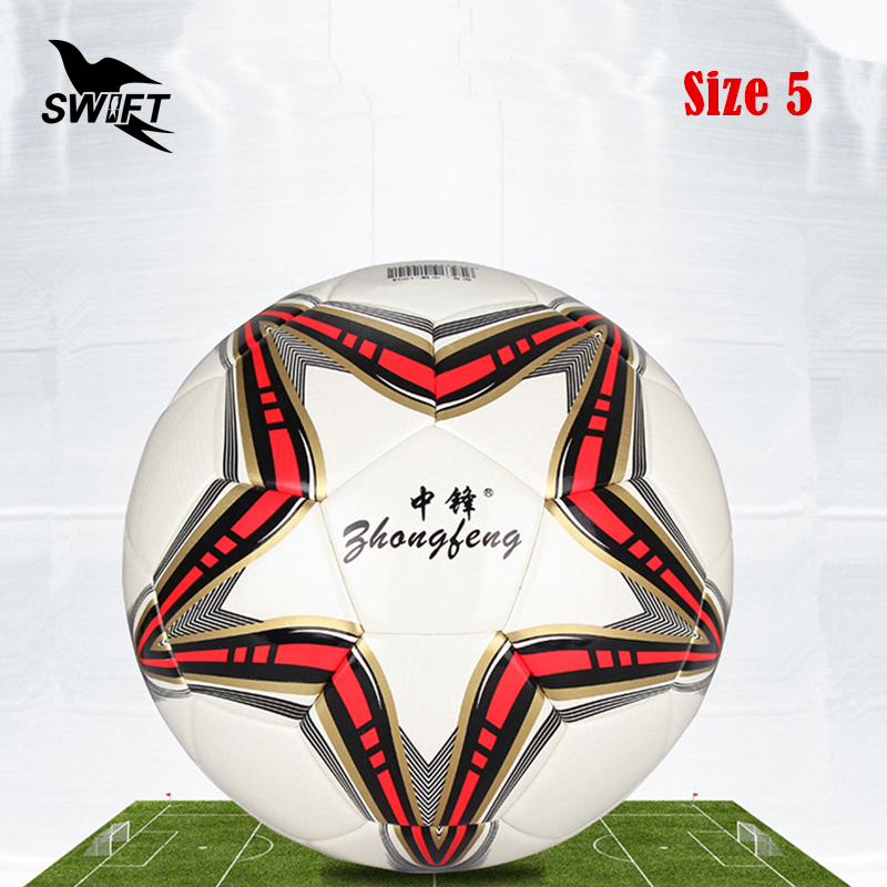 Original Brand Professional Size 5 Euro Football Ball 2016 PU Leather  Official Soccer Ball Cheap Foot
