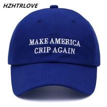 Высокое качество бренд письмо Сделать Америка CRIP снова Snapback кепки хлопок Бейсболка для мужчин женщин хип-хоп шляпа папы костяная Garros