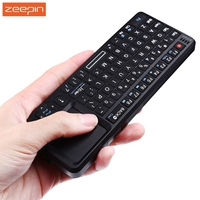 Zeepin TR MWK Mini Rechargeable Slim 2 4GHz Wireless QWERTY Keyboard Touchpad With Receiver Optimized Keys