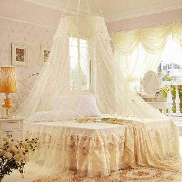 Sommer Prinzessin Moskitonetze Bett Vorhang Baldachin Net Erwachsene  Klamboe Rund Hing Dome Mosquitero Para Cama Eintürig