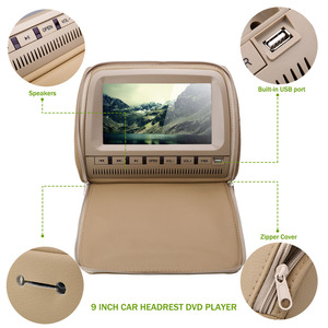 Image 5 - Cemicen 2 יחידות 9 inch רכב משענת ראש צג DVD נגן וידאו 800*480 רוכסן כיסוי TFT LCD מסך תמיכה IR/FM/USB/SD/רמקול/משחק