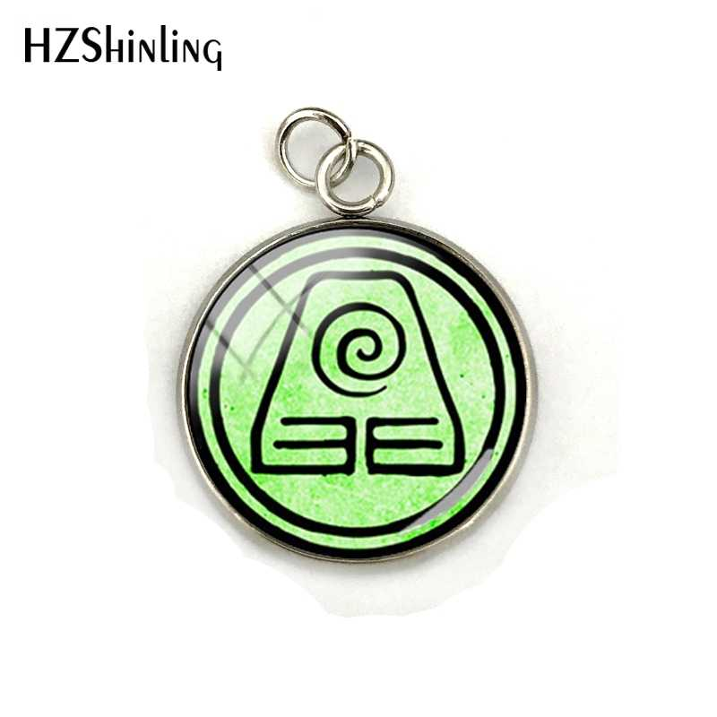 2018 New Avatar The Last Airbender Charms Kingdom Jewelry Air Nomad Fire And Water Tribe Glass Dome Stainless Steel Pendant