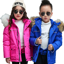2018 New Baby Boys Gilrs High-end Custom Down Jacket Children Winter Warm Hoodie Clothes Kids Outwear Jackets Coats Snowsuit