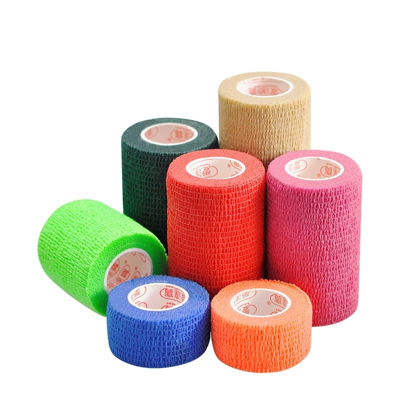 Non-woven Elastic Self-adhesive Bandage Wrist Arm Leg Joints Protector Breathable Athletic Adhesive Tape Bandages 10 rolls/lot цена
