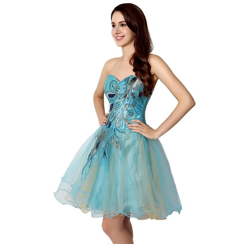 Tanie W magazynie Suknie Homecoming Crystal Sweetheart Sukienka - Suknie specjalne okazje - Zdjęcie 4