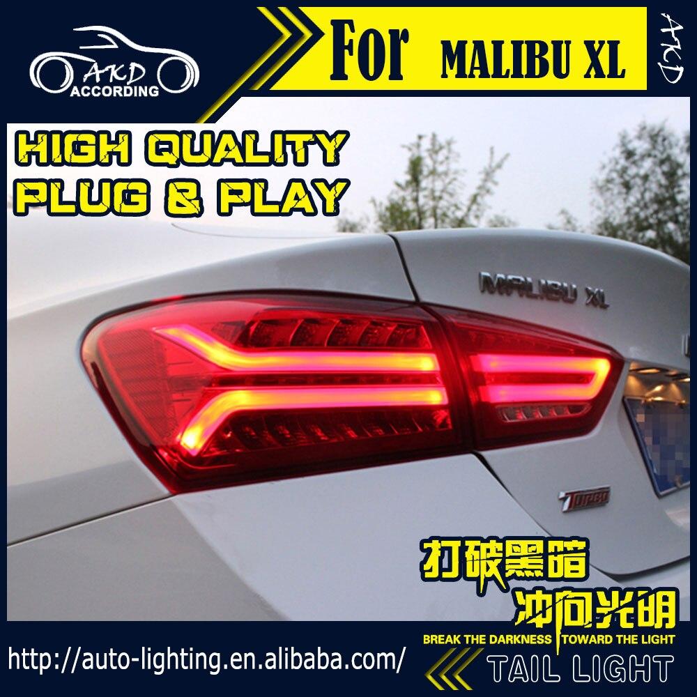 AKD Estilo Do Carro Cauda Luz Da Cauda Da Lâmpada para Chevrolet Malibu 2017 Malibu XL dinâmica LED Sinal LED DRL Batente Traseiro acessórios da lâmpada