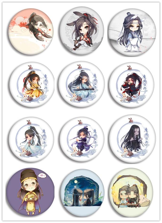 1pcs 58MM Anime Badge Mo Dao Zhu Shi Wei Wu Xian Lan Zhan Fairy Round Pin BROOCH