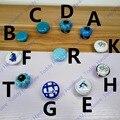 Сельский Стиль белая Керамическая ручка Синий стиль Кухонная Мебель ручка шкаф ящик тянет с голубой цветок печати