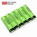 6 pçs/lote original ncr 18650 3.7 v 3400 mah ncr18650b li-ion bateria recarregável para panasonic frete grátis