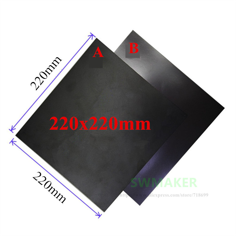 220x220mm Magnetic Print Bed Tape Print Sticker Build Plate Tape Flex Plate for Wanhao i3 Anet A8 Creality ENDER-3 3D Printer