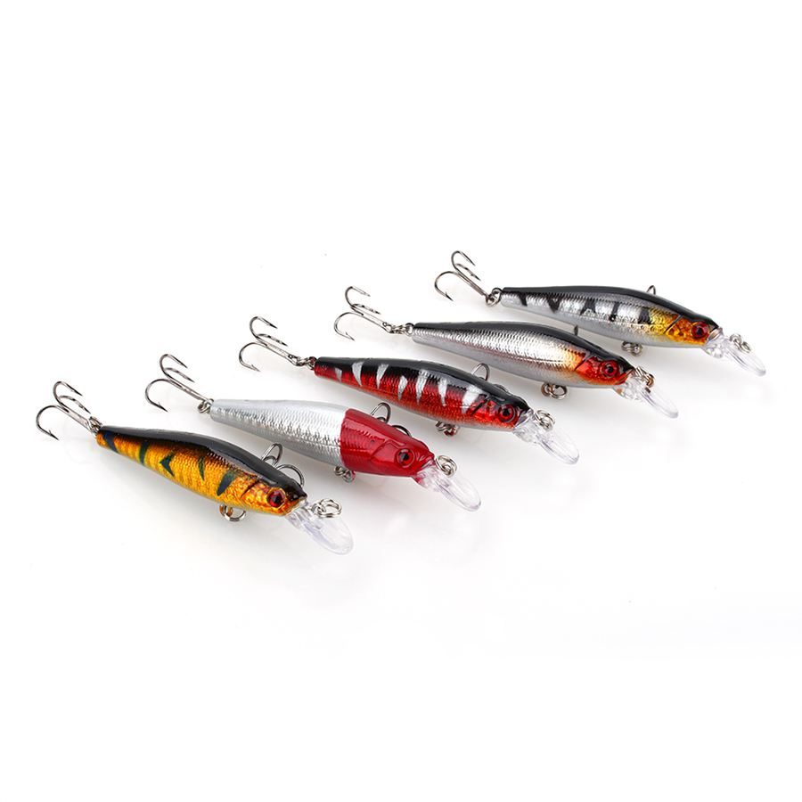 Cheap sale 5pcs lot minnow fishing lures lures bass for Cheap fishing spinners