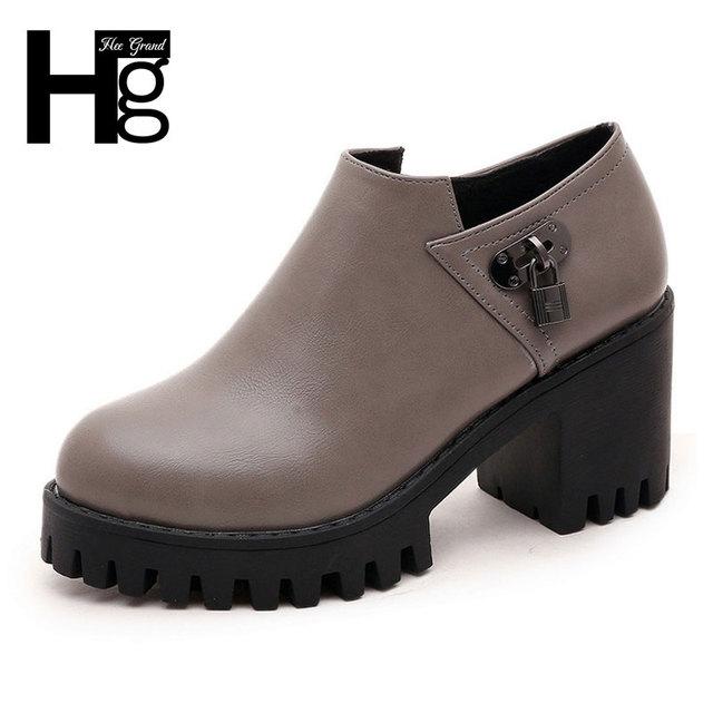 Hee grand sapatos 2017 nova primavera das mulheres da moda à prova d' água sapato oxford para a mulher tamanho 35-39 xwd5044