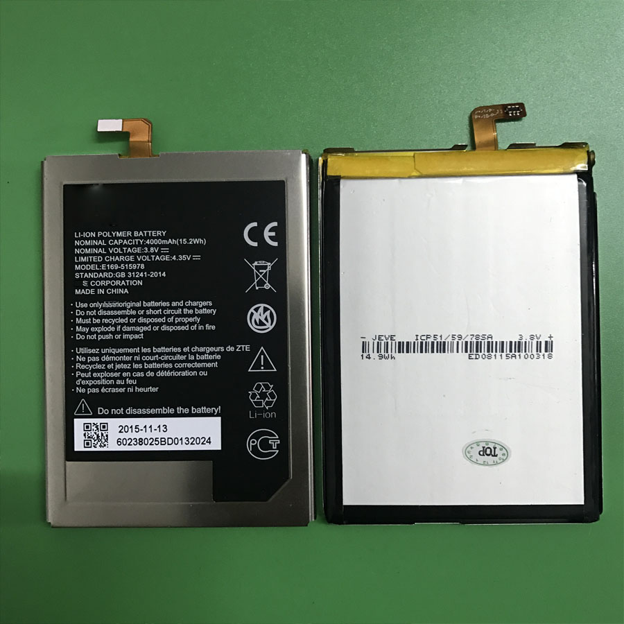 In Stock Wisecoco E169-515978 515978 4000mAh Battery For ZTE Blade X3 Q519T D2 A452 Cellphone Bateria + Tracking Number