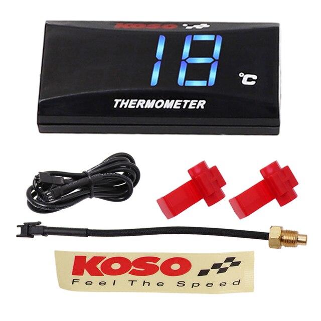 Koso Motorcycle Temperature Gauge Universal Digital Water Temperature Gauge for Yamaha MT 07 NMAX BWM Kawasaki Moto Thermometer