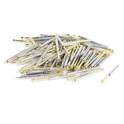 100 Pcs 2.5mm x 35mm Serrated Point Crown Tip Spring Test Probes Pins PH-4H 100 x p111 v 1 3mm dia 4 point crown tip spring test probe