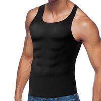 Neoprene Hot Shaper Waist Trainer Corset Men Body Shaper Slimming Shapewear Vest Top Sweat Suit Muscle