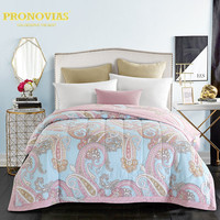 Pronovias 100% cotton paisley patterned oriental quilted bedspreads/throws single double bed 1pc for spring summer autumn