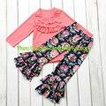 2016 moda camisas trajes persnickety la muchacha de la colmena floral pantalones bebé ropa de boutique set