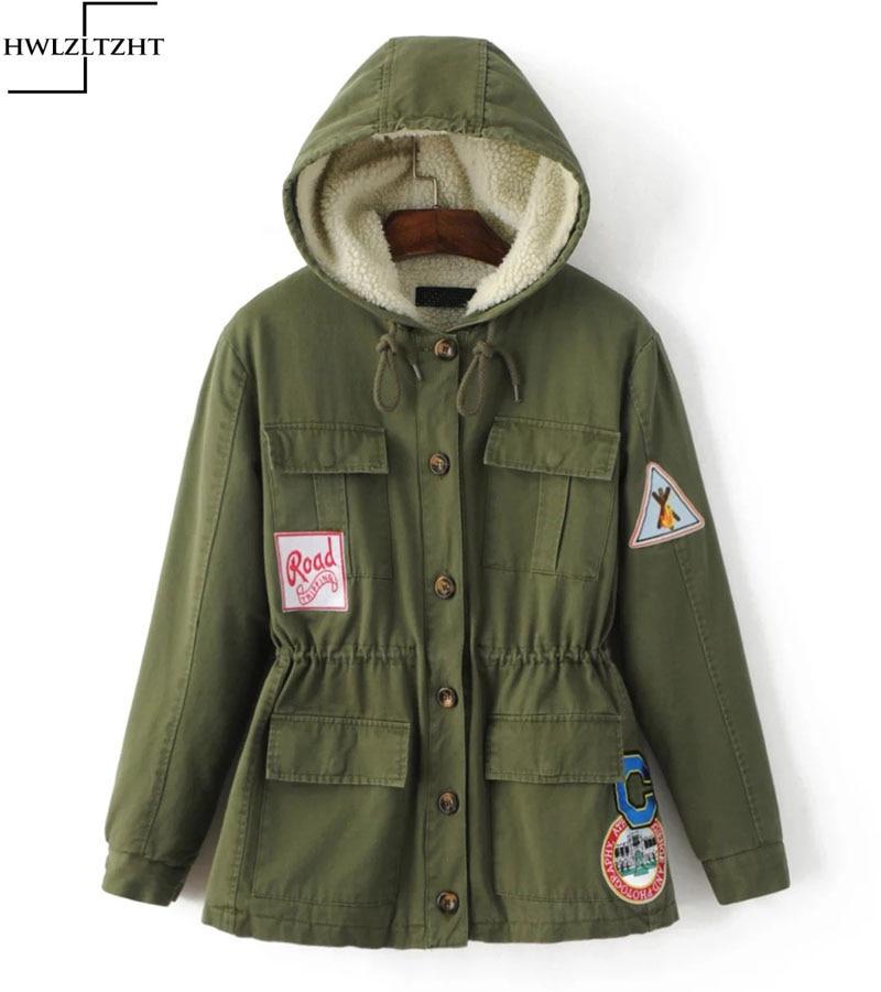 ФОТО New Women Winter Thick Hooded Coat Parkas Warm Long Plus Size Lambs wool Single Breasted Jacket drawstring Winter Warm Coats