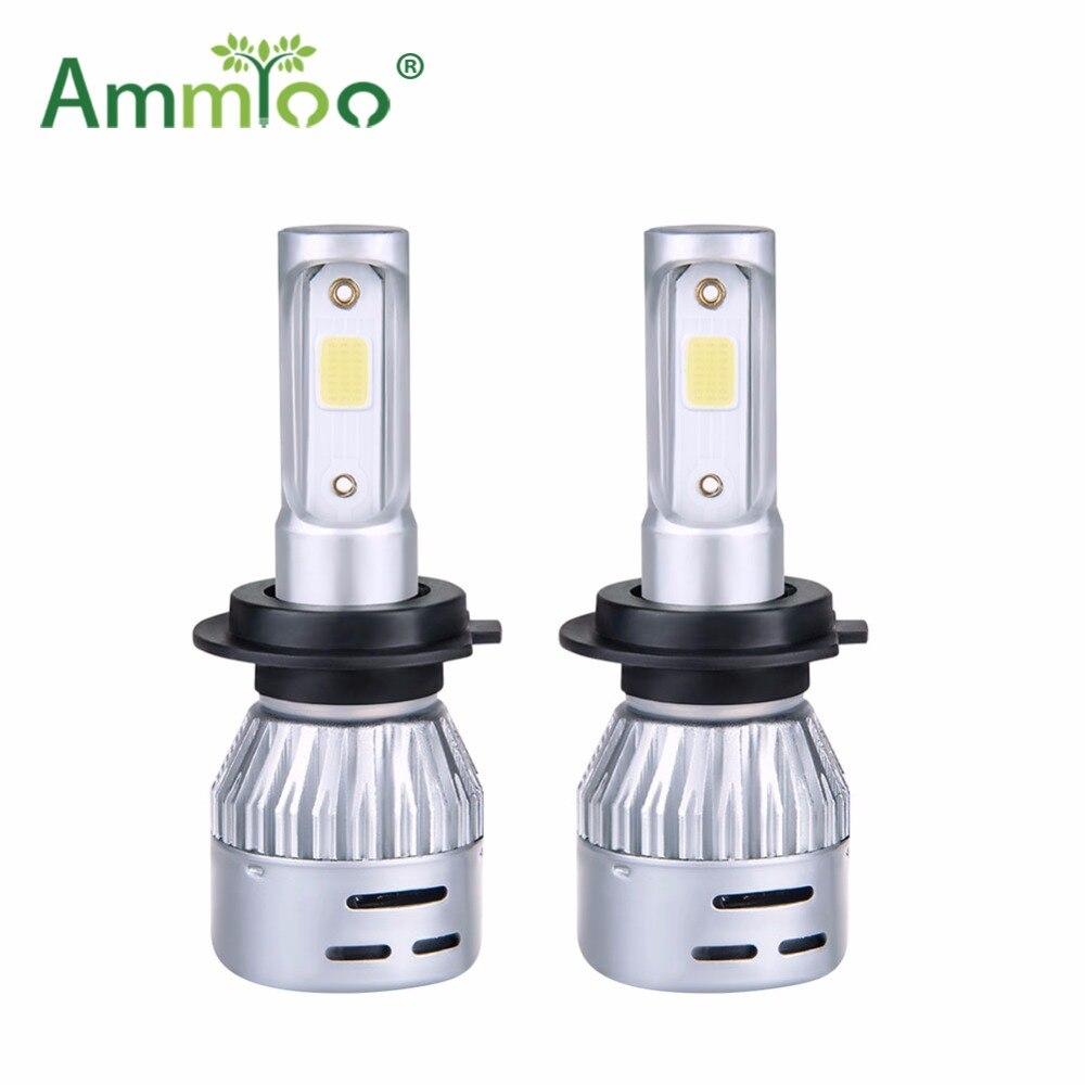 Ammtoo H4 Led Auto Koplamp H7 LED Lamp 9005 9006 mistlamp H1 H11 HB3 HB4 72 w 8000LM Auto 3000 k 4300 k 6500 k 8000 k Gloeilamp