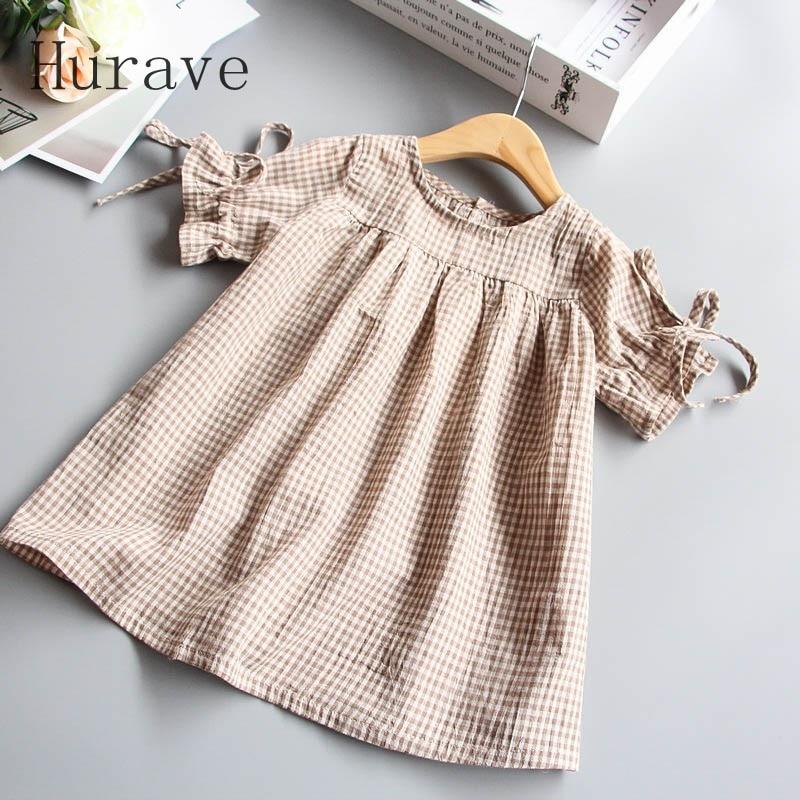 Hurave-2017-Spring-Summer-Fashion-Girls-Dress-Cotton-P-O-Collar-Girl-Kids-Short-Sleeve-Dress-1