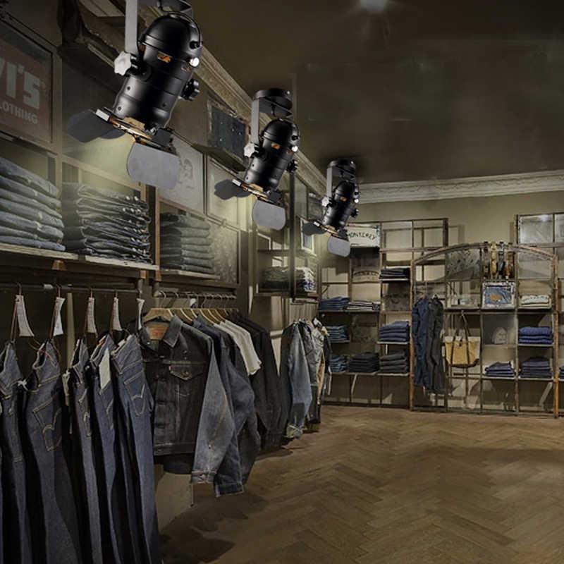 Потолочный светильник регулируемый подъема свет Гостиная Паб Бар Stage Ресторан освещения Винтаж промышленный светильник ткань магазин