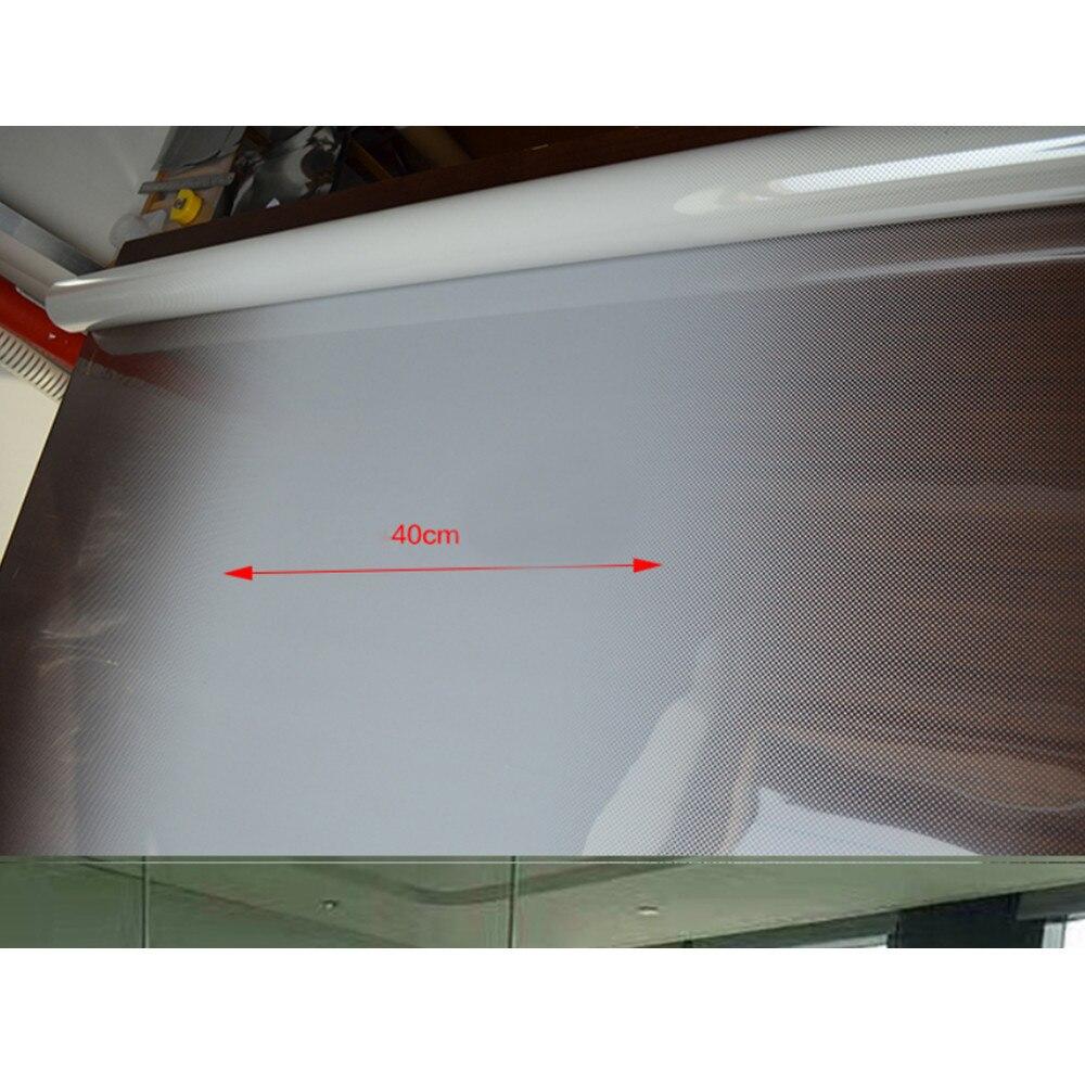 Semi-vie privée Blanc Dot Seule façon Gradient Film de Fenêtre En Verre Décoration Feuille Sticker1.52m x 10 m