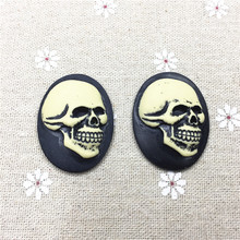 Free shipping!set 5pcs,storm of terror,resin Cameo.Resin Flatback Cabochon for Necklace Pendant.Jewelry.30*40mm,Halloween items