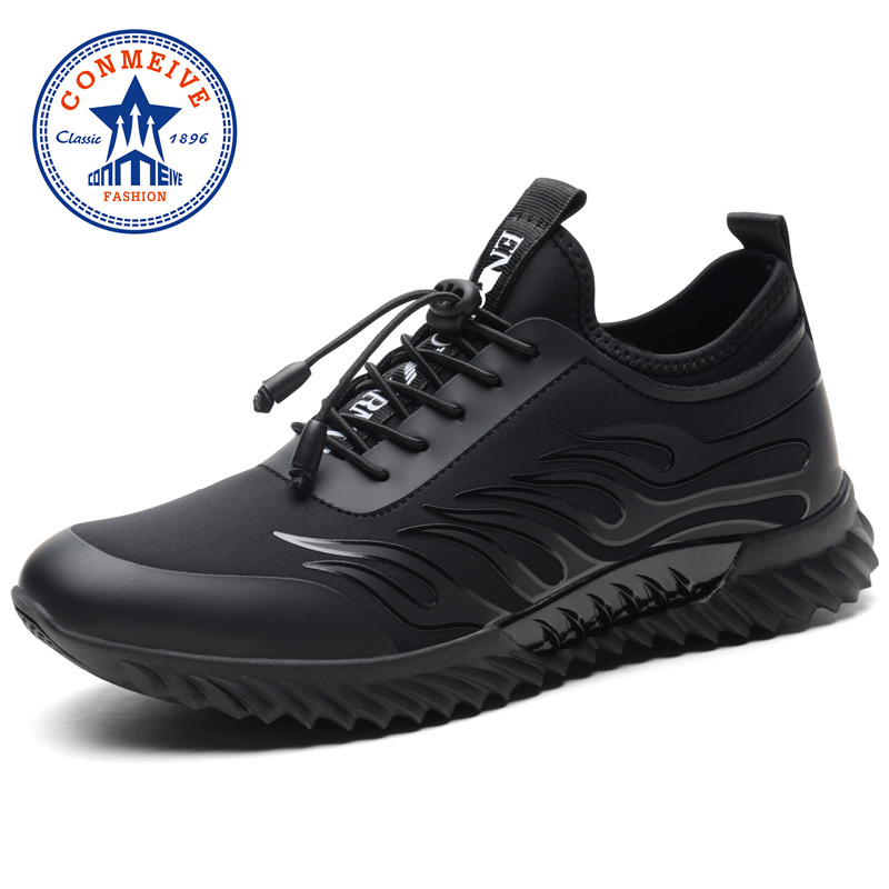 New Arrival Men Running Shoes Cushioning Breathable Man Sneakers Spring Summer PU+Fabric Light Brand Mens Jogging Sport Shoe