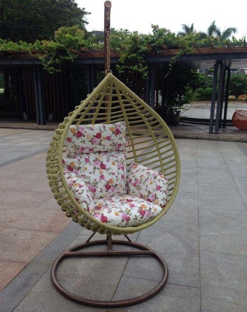 Muebles de jardín PE silla de mimbre silla ocasional columpio nido ...