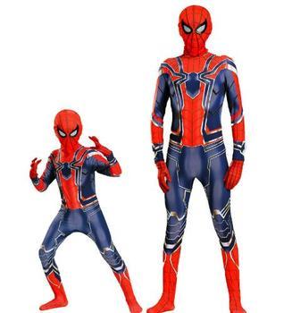 цена Halloween costume for kids amazing iron costume kid adult suit cosplay children superhero adult men онлайн в 2017 году