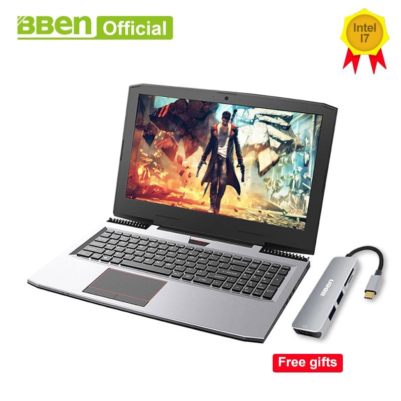 "BBEN G16 Gaming Laptops Pro Windows10 computers 15.6"" GTX1060 Intel Core i7 7700HQ DDR4 8G/16G/32G RAM 256G/512G SSD,1TB/2TB HDD(China)"