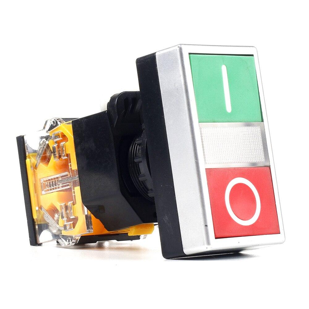 все цены на 5 PCS Push button switch Flush button Momentary Waterproof IP65 1NO+1NC LA115-B8-11R онлайн